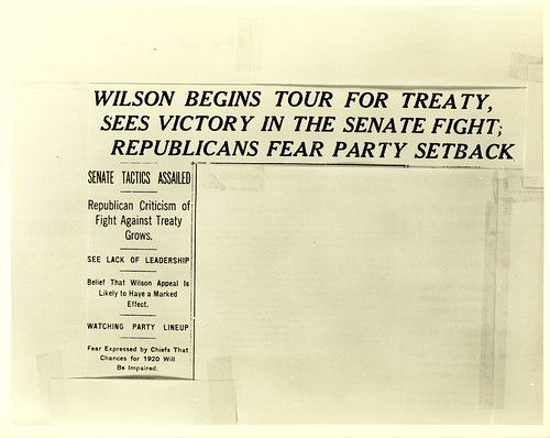 Newspaper Headline: Versailles Peace Treaty | by Woodrow Wilson Presidential Library Archives
