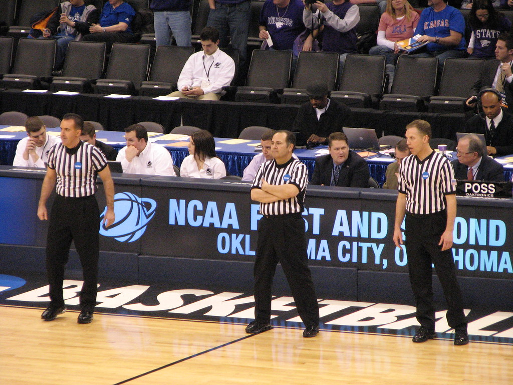 NCAA REFEREE'S | Ncaa referee's Mike Eades, Mike Wood and ...
