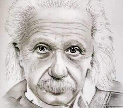 Albert Einstein Charcoal Pencil Portrait A Black And White Flickr