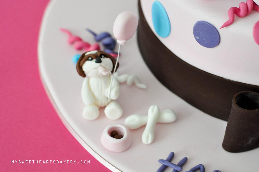 Dog Theme 21st Birthday Cake
