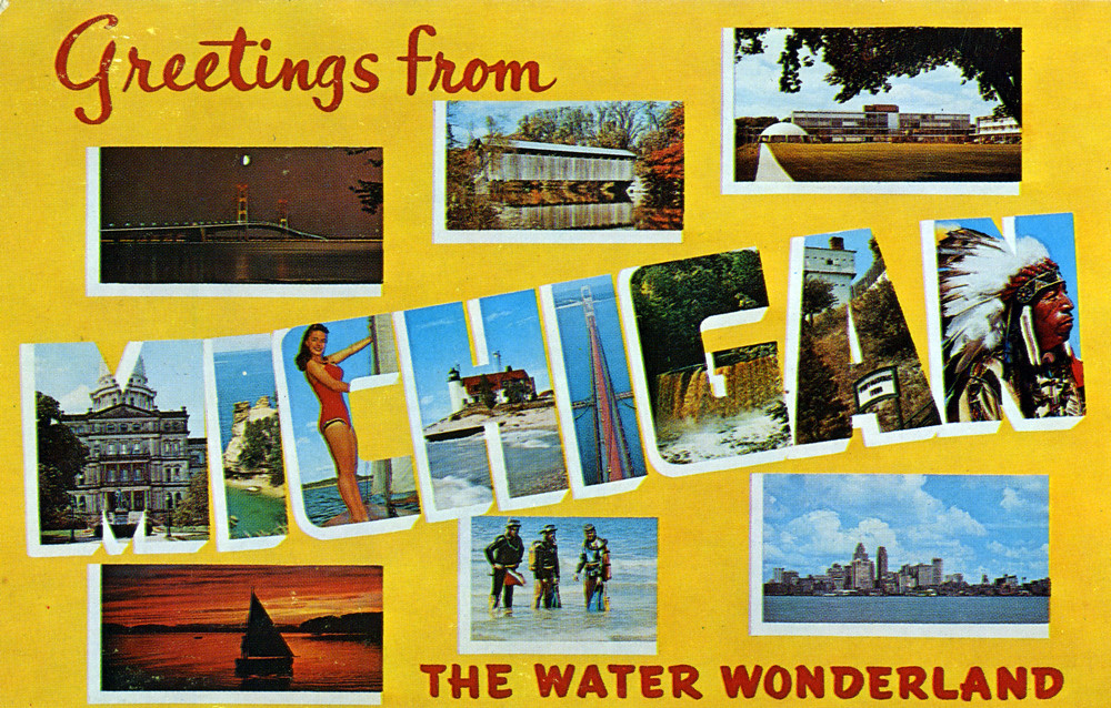 Greetings from michigan the water wonderland large lett flickr greetings from michigan the water wonderland large letter postcard by shook photos m4hsunfo