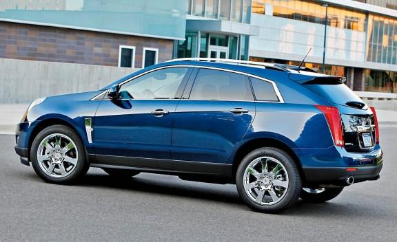 2010 Cadillac Srx Imperial Blue Side Srx Performance