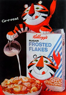 1960s KELLOGGS Frosted Flakes Ceral Vintage Advertisement TONY THE TIGER Graphics | by Christian Montone