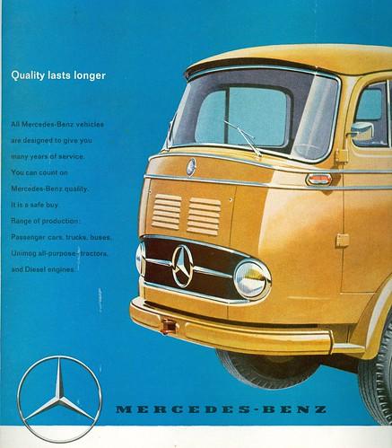 1960 mercedes benz truck advertisement i took a dip in for Old mercedes benz trucks