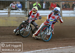 Ben Morley (y) outside Jake Knight (w)