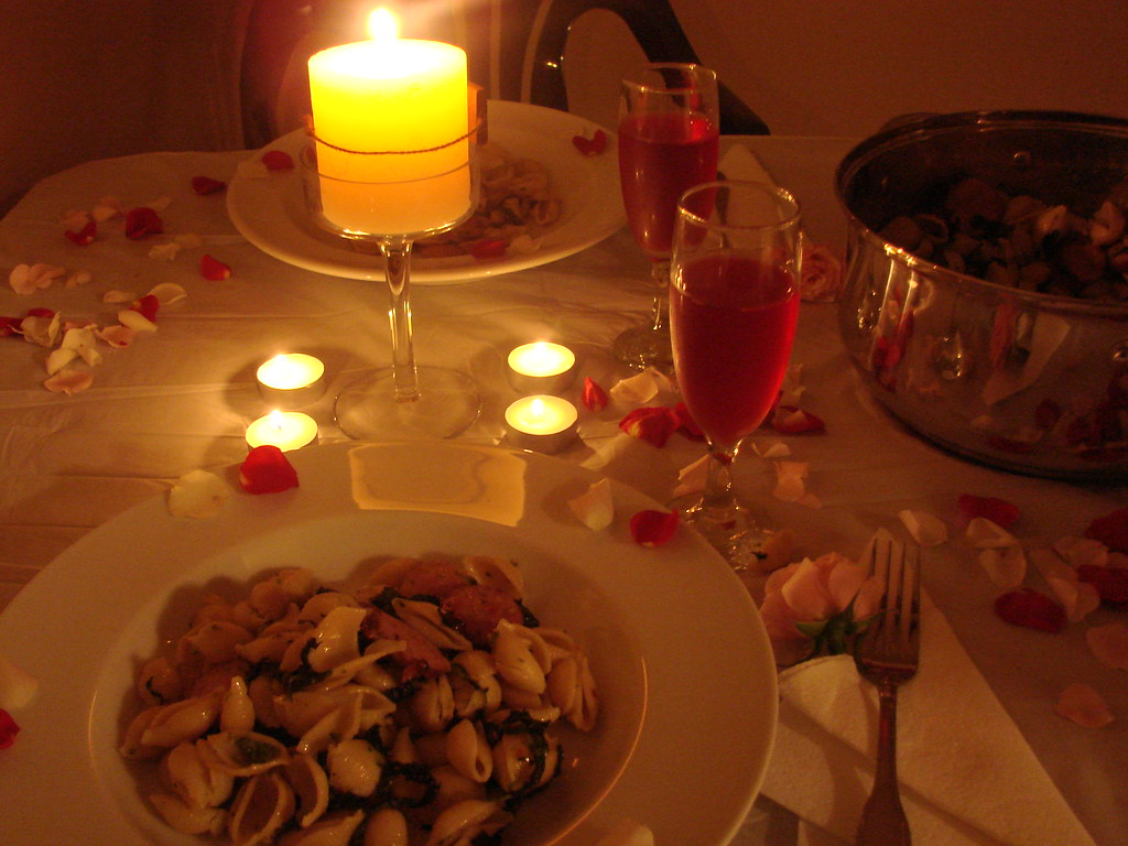 romantic dinner samantha celera flickr