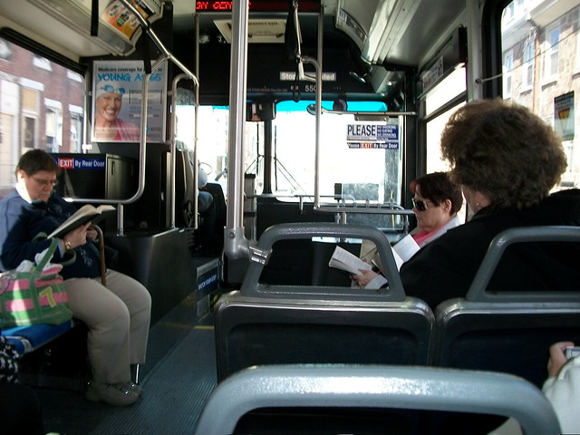 aboard septa bus route 25  northbound