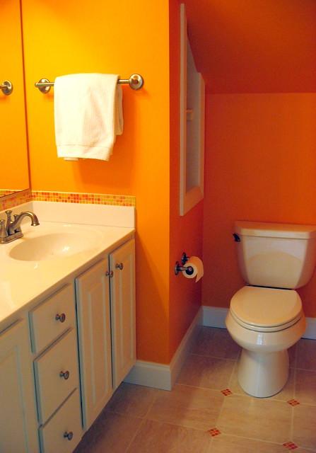 Bright Orange Bathroom Flickr Photo Sharing