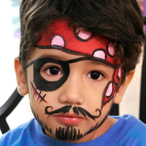 Pirate Face Painting | by Hero4HireParty