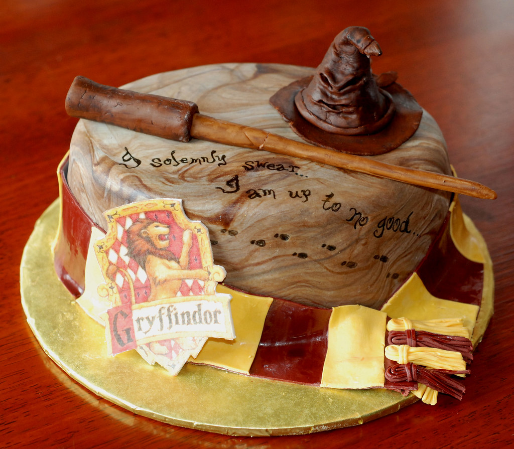 Harry Potter Cake For Marti Chocolate Fudge Cake With