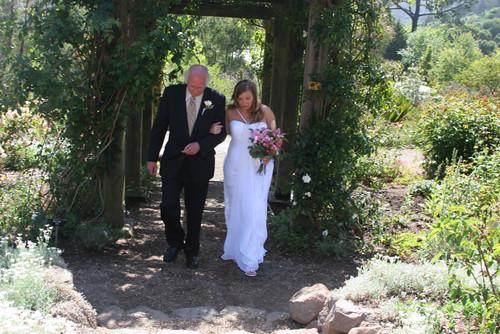 Bride And Father Processional Wedding Uc Berkeley Botani Flickr