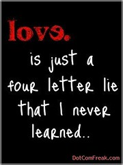 Love Is Just A Four Letter Word I Never Learned