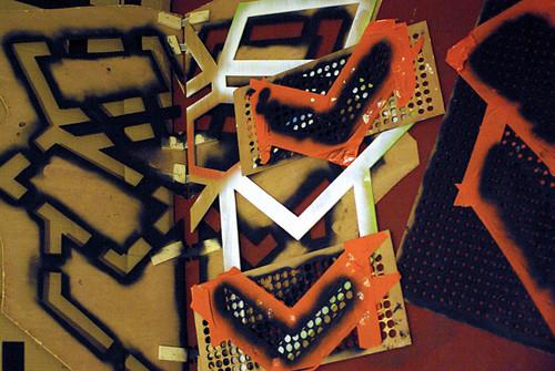 karton pochoir technique trame gaffer karton carton de peinture flickr. Black Bedroom Furniture Sets. Home Design Ideas