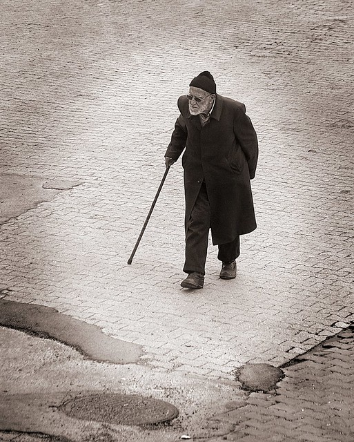 Old man with cane | Flickr - Photo Sharing!