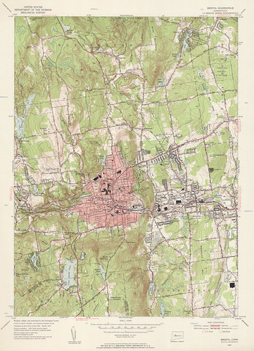 Bristol Quadrangle 1953 - USGS Topographic 1:24,000 | by uconnlibrarymagic