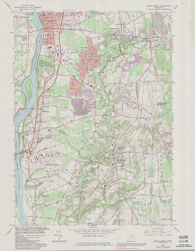 Broad Brook Quadrangle 1984 - USGS Topographic Map 1:24,000 | by uconnlibrariesmagic