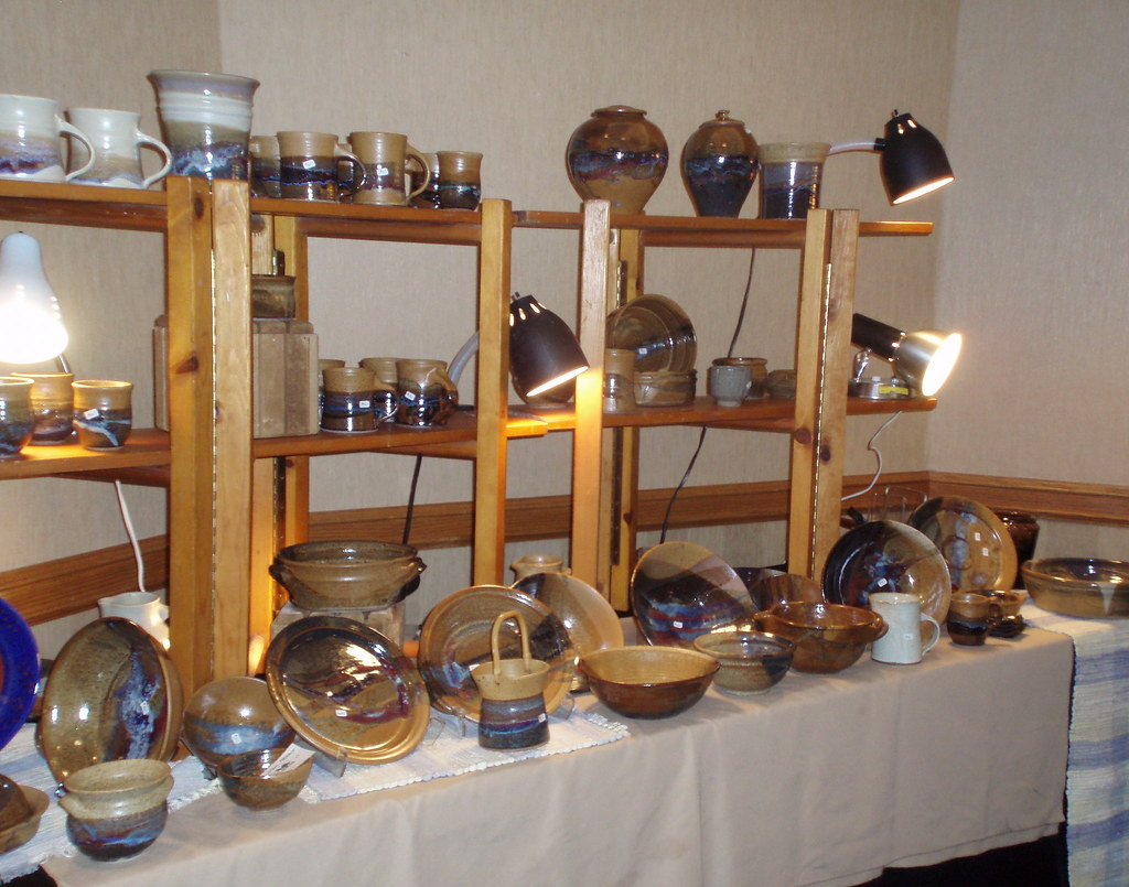 How To Display Pottery At Craft Show