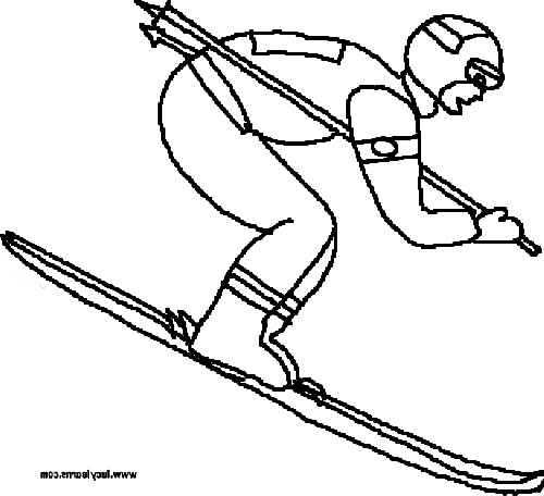 bears skiing coloring pages - photo#41
