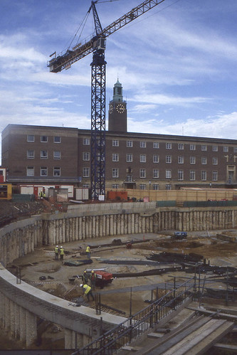 Building the Forum, Norwich,1999 | by mira66