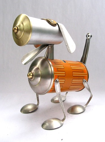 Thermond 468 Found Object Robot Dog Assemblage Sculpture