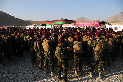 A group of more than 920 Afghan National Army commandos attend their graduation ceremony | by NATO Training Mission-Afghanistan
