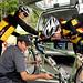 Bike Gallery mechanic at lunch