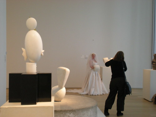 Bride amidst the Brancusi sculptures | by genibee