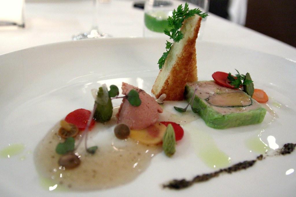 terrine de foie gras poulet legumes la grecque and. Black Bedroom Furniture Sets. Home Design Ideas