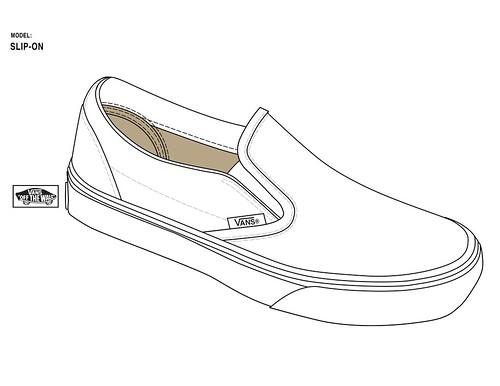 Slip On Shoe Drawing