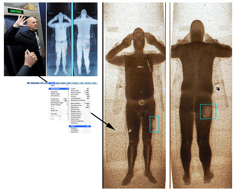 Airport Full Body Scan inverted = nude image? | by houbi