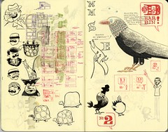 SKETCHBOOK SPREAD | Pages 76-77 | by Dustin Harbin