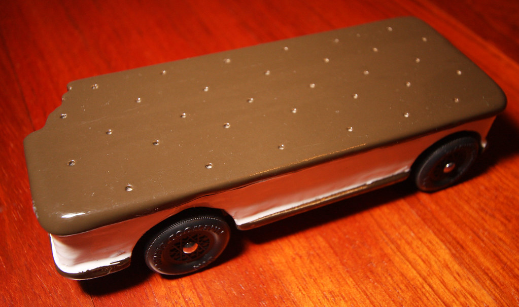 Ice Cream Sandwich - Pinewood Derby Car | Ice Cream Sandwich… | Flickr