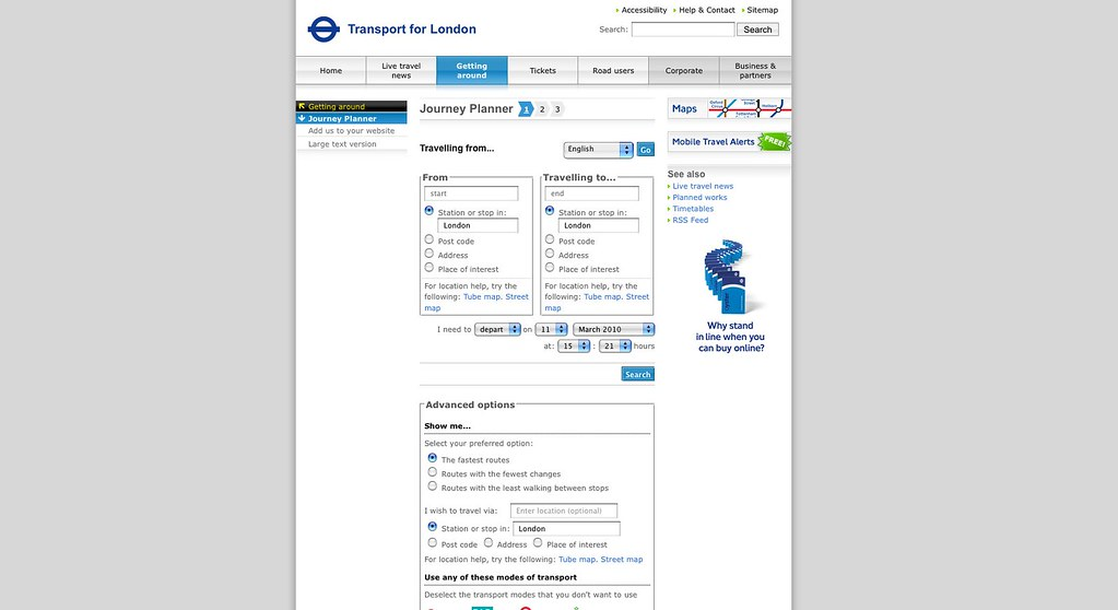 English - Journey Planner - Transport for London | Uploaded … | Flickr