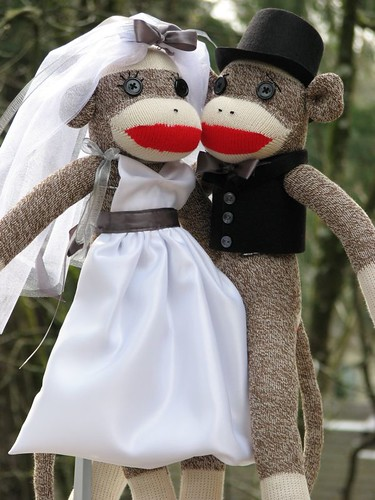 Bride and Groom Sock Monkey | by sockmonkeyfun