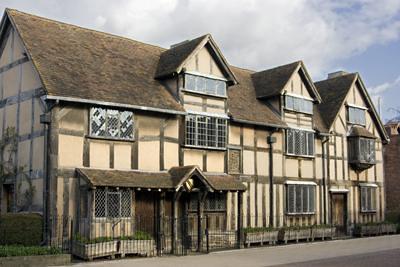 The House Where William Shakespere Was Born In Stratford Upon Avon Warwickshire