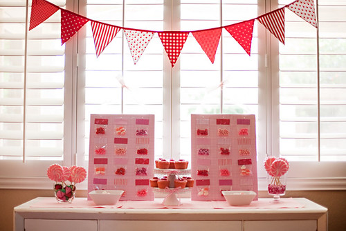Strawberries and Cream bunting banner | by giggleberry
