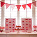 Strawberries and Cream bunting banner