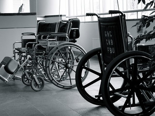 Wheelchairs, Group Health Hospital, Seattle | by Curtis Cronn