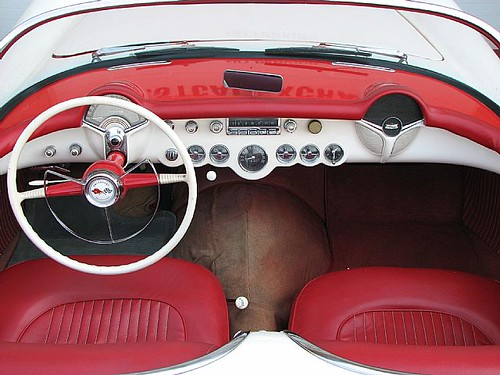 1954 Chevrolet Corvette Interior | by Collector Car Ads