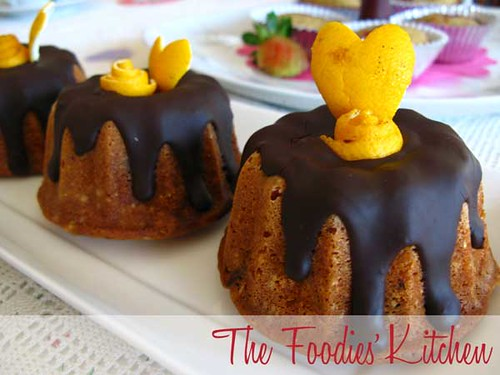 Orange Chocolate Mini Cakes | by The Foodies' Kitchen
