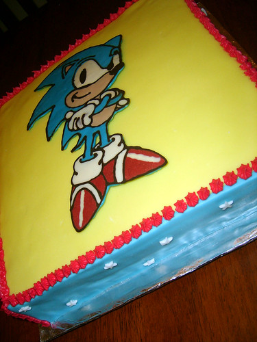 Sonic The Hedgehog Birthday Cake I Made This Cake For My