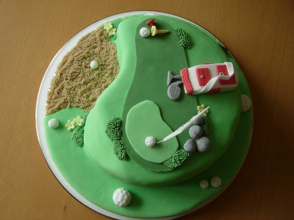 Golf themed cake for Dads 60th Birthday  Caroline John  Flickr