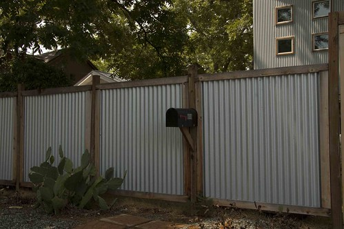 corrugated metal panels wood frame | 318Studio | Flickr
