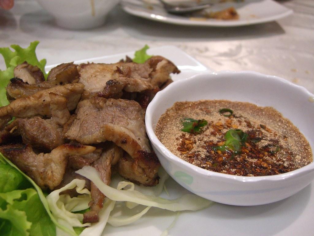 Moo Yang Grilled Pork Neck - Kao Gaeng AUD10