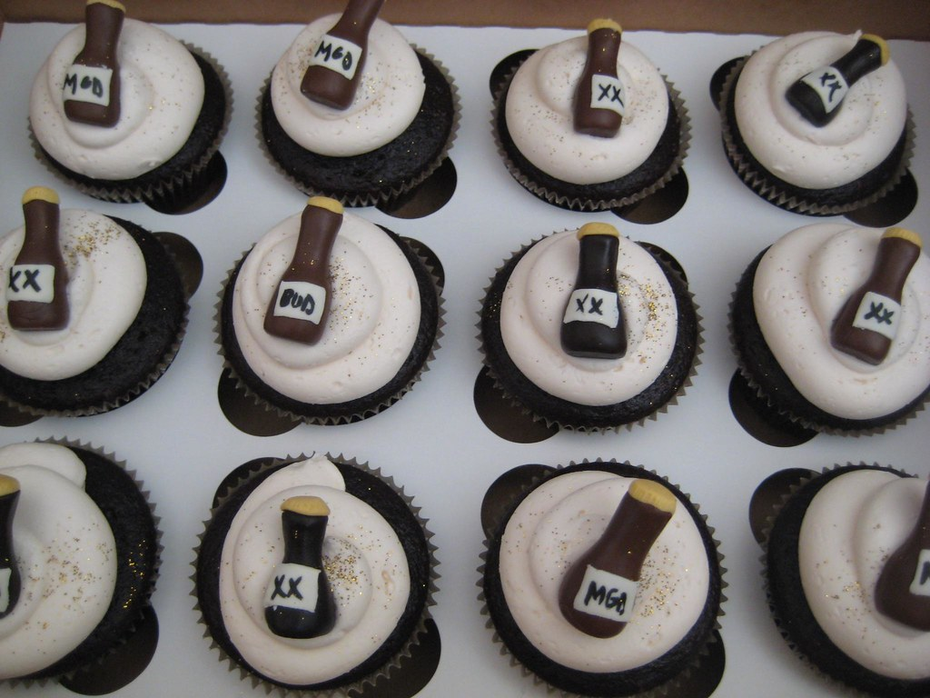 40th Birthday Beer Themed Cupcakes Eggless Cupcakes