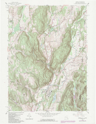 Amenia Quadrangle 1984 - USGS Topographic Map 1:24,000 | by uconnlibrarymagic