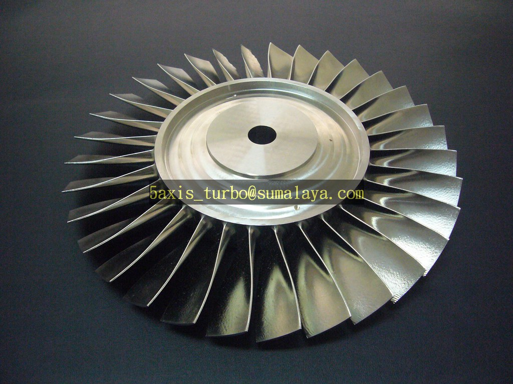 cnc 5axis axial turbine by sumalaya