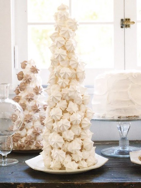 White Meringue Christmas Trees Dress Design Decor By Camillestyles