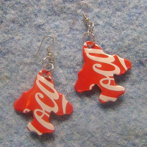 AeroPlane Can Can Earrings | by Some Art Stuff