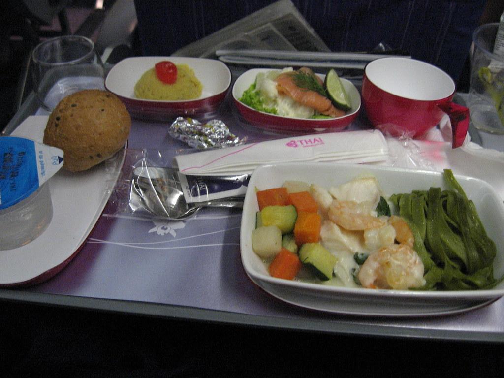 Seafood meal thai airways bkk blr economy class flickr for Air thai cuisine